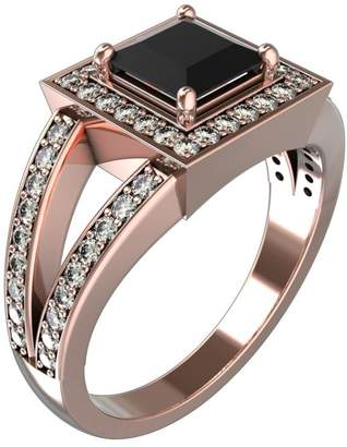 Black Diamond JewelsForum 14K Gold Womens Princess Cut Solitaire Engagement Rings With 1.6 Ct Diamonds TCW