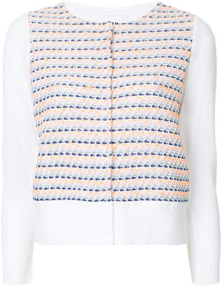 Coohem embroidered fitted cardigan