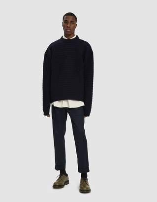 Jil Sander Long Sleeve Sweater in Dark Blue