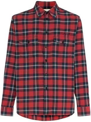 Gucci Paramount print checked cotton shirt