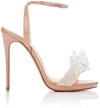 Christian Louboutin Women's Crystal Queen Patent Leather Sandals $2,245 thestylecure.com