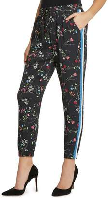 Willow & Clay Side Stripe Floral Jogger Pants