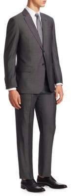 Emporio Armani Wool& Silk Pindot G Line Suit