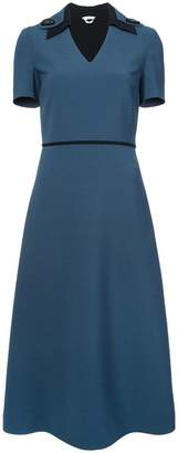 Fendi short-sleeve flared midi dress