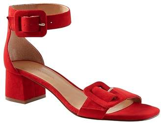 Banana Republic Buckle Low Block-Heel Sandal