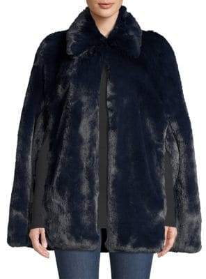 Burberry Allford Faux Fur Cape