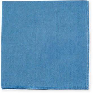 Brunello Cucinelli Solid Denim Pocket Square