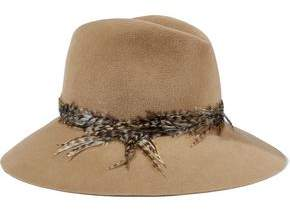 Eugenia Kim Farrah Faux Feather-trimmed Rabbit-felt Fedora