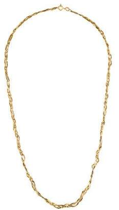 14K Braided Flat Link Chain Necklace
