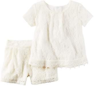 Carter's Girls 4-8 Lace Top & Shorts Set