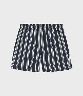 36fc482b86808 Reiss Gundy - Striped Swim Shorts in Navy