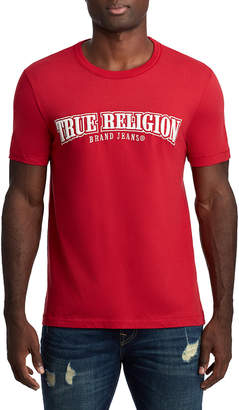 True Religion MENS EMBROIDERED SATEEN BUDDHA LOGO TEE