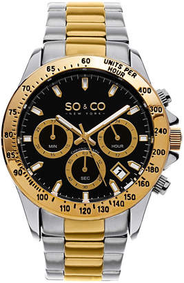 Co SO & So & Mens Silver Tone Bracelet Watch-Jp15580