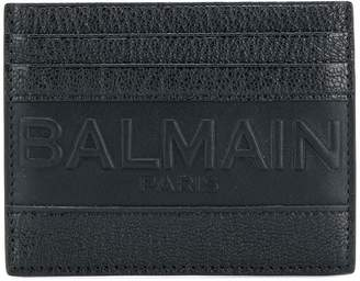 Balmain embossed logo cardholder