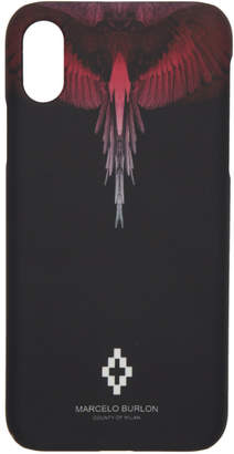 Marcelo Burlon County of Milan Black and Pink Wings iPhone X Case