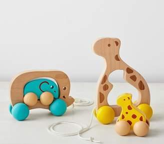 Pottery Barn Kids Wooden Pull Toy - Giraffe