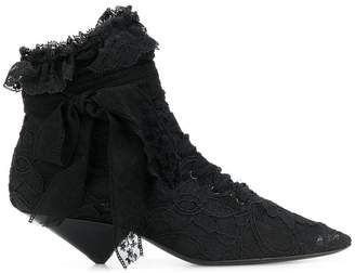 Saint Laurent Blaze 45 lace ankle boots