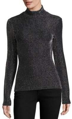 BCBGMAXAZRIA Brinne Metallic Striped Pullover