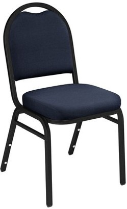 National Public Seating NPS 9200 Series Premium Fabric Upholstered Stack Chair, Midnight Blue