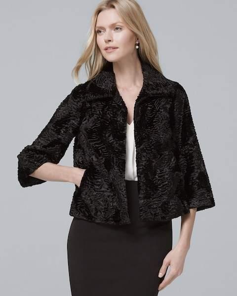 Whbm Cropped Persian Coat