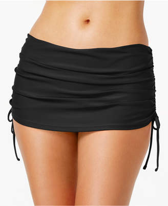 Island Escape Ruched Swim Skirt Women's Swimsuit $29.98 thestylecure.com