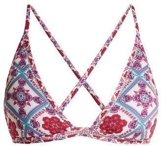 Paolita - Sahara Triangle Bikini Top - Womens - Pink Multi