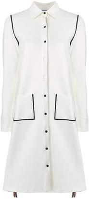 Thom Browne Contrast Stitch Milano Tech Shirtdress