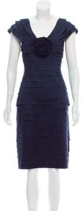 Tadashi Shoji Tiered Satin Dress