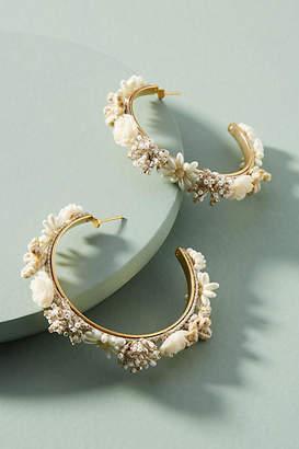 Mishky Morobia Floral Hoop Earrings