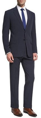 Armani Collezioni Seersucker Wool-Silk Two-Piece Suit, Navy $1,795 thestylecure.com