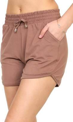 VIV Collection Printed Brushed Casual Summer Shorts