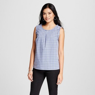 Merona Women's Gingham Top - Merona Navy $22.99 thestylecure.com