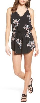 Women's Mimi Chica Floral Print Romper $39 thestylecure.com