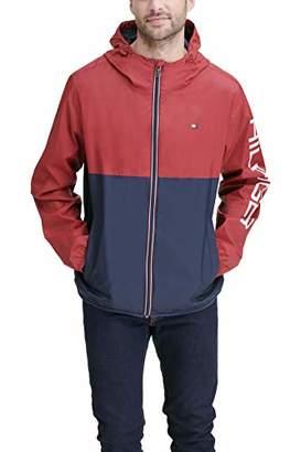 Tommy Hilfiger Men's Colorblocked Logo Rain Slicker Jacket