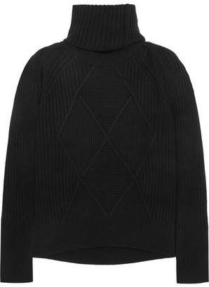 KENZO - Convertible Wool Turtleneck Sweater - Black $540 thestylecure.com