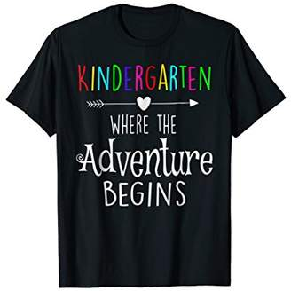 Kindergarten Where the Adventure Begins Gift Teachers Tshirt