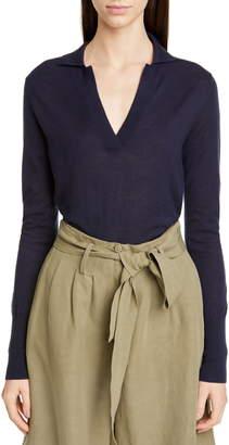 Co Cashmere Polo Sweater