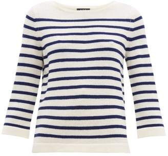 A.P.C. Claudine Breton Striped Merino Sweater - Womens - Navy White