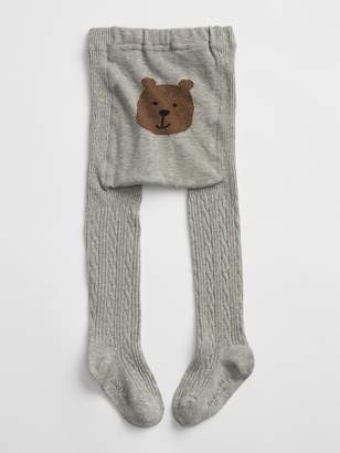 Gap Bear Graphic Cable-Knit Tights