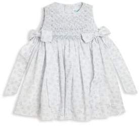 Baby Girl's Bow-Detail Printed Smocked Dress
