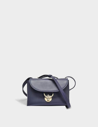 Salvatore Ferragamo Stella Crossbody Bag in Blue Dolce T Leather
