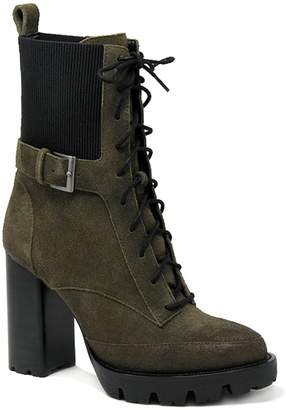 Charles by Charles David Charles David Lace-Up Leather Lug Sole Booties- Govern