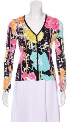 Blumarine Embellished V-Neck Cardigan