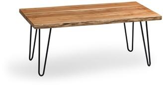 Alaterre Furniture Hairpin Live Edge Large Coffee Table