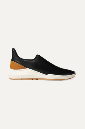 Vince Marlon Leather Slip-on Sneakers - Black