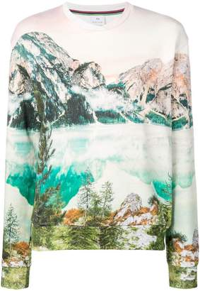 Paul Smith mountain print sweatshirt