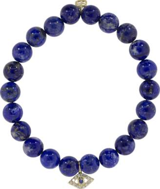 Sydney Evan Sapphire And Diamond Evil Eye Charm Bracelet