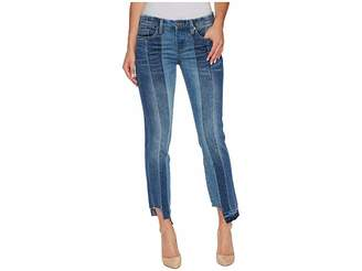 Blank NYC Novelty Denim Skinny with Seaming Detail Contrast of Denim Washes in High and Low Women's Jeans