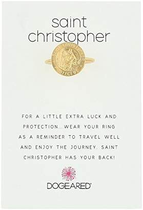 Dogeared St. Christopher Reminder Ring