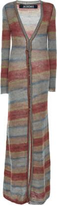 Jacquemus La Robe Striped Knit Maxi Dress Size: 34